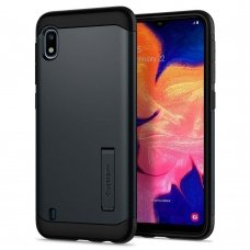 Samsung galaxy a10 dėklas Spigen Slim Armor su metaline plokštele juodas