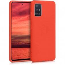 AKCIJA! Samsung galaxy A51 dėklas Liquid Silicone raudonas