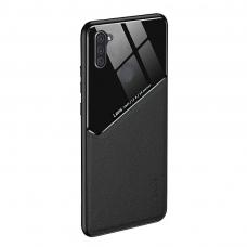 Samsung Galaxy A11 / M11 dėklas su įmontuota metaline plokštele LENS case Juodas