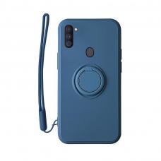 Samsung Galaxy a11 / M11 dėklas su magnetu Pastel Ring Mėlynas