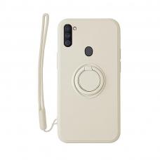 Samsung Galaxy a11 / M11 dėklas su magnetu Pastel Ring Baltas