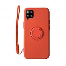 Samsung Galaxy a12 dėklas su magnetu Pastel Ring Raudonas