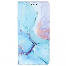 Samsung Galaxy a12 atverčiamas dėklas smart trendy marble 1