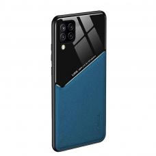 Samsung Galaxy A12 dėklas su įmontuota metaline plokštele LENS case Mėlynas