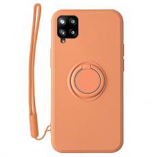 Samsung Galaxy a12 dėklas su magnetu Pastel Ring Oranžinis
