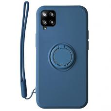 Samsung Galaxy a12 dėklas su magnetu Pastel Ring Mėlynas