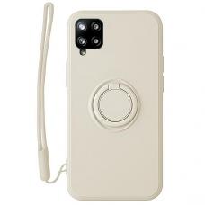 Samsung Galaxy a12 dėklas su magnetu Pastel Ring Baltas