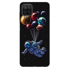 """Samsung Galaxy A12 TPU dėklas unikaliu dizainu 1.0 mm """"u-case Airskin Cosmo design"""""""