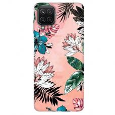 """Samsung Galaxy A12 TPU dėklas unikaliu dizainu 1.0 mm """"u-case Airskin Flowers 1 design"""""""