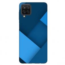 """Samsung Galaxy A12 TPU dėklas unikaliu dizainu 1.0 mm """"u-case Airskin Blue design"""""""