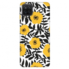 """Samsung Galaxy A12 TPU dėklas unikaliu dizainu 1.0 mm """"u-case Airskin Flowers 2 design"""""""
