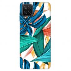 """Samsung Galaxy A12 TPU dėklas unikaliu dizainu 1.0 mm """"u-case Airskin Leaves 1 design"""""""