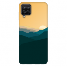 "Samsung Galaxy A12 TPU dėklas unikaliu dizainu 1.0 mm ""u-case Airskin Mountains 2 design"""