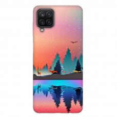 """Samsung Galaxy A12 TPU dėklas unikaliu dizainu 1.0 mm """"u-case Airskin Nature 5 design"""""""