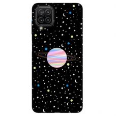 """Samsung Galaxy A12 TPU dėklas unikaliu dizainu 1.0 mm """"u-case Airskin Planet design"""""""