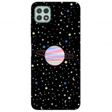 """Samsung Galaxy A22 5G TPU dėklas unikaliu dizainu 1.0 mm """"u-case Airskin Planet design"""""""