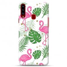 "Samsung Galaxy A20s TPU DĖKLAS UNIKALIU DIZAINU 1.0 MM 1.0 mm ""u-case airskin Flamingos design"""