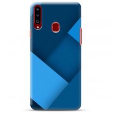 """Samsung Galaxy A20s TPU dėklas unikaliu dizainu 1.0 mm """"u-case Airskin Blue design"""""""