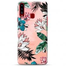 """Samsung Galaxy A20s TPU dėklas unikaliu dizainu 1.0 mm """"u-case Airskin Flowers 1 design"""""""