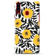 """Samsung Galaxy A20s TPU dėklas unikaliu dizainu 1.0 mm """"u-case Airskin Flowers 2 design"""""""