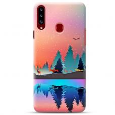 """Samsung Galaxy A20s TPU dėklas unikaliu dizainu 1.0 mm """"u-case Airskin Nature 5 design"""""""