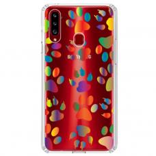 """Samsung Galaxy A20s TPU dėklas unikaliu dizainu 1.0 mm """"u-case Airskin Paw design"""""""