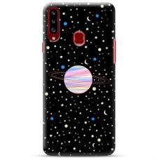 """Samsung Galaxy A20s TPU dėklas unikaliu dizainu 1.0 mm """"u-case Airskin Planet design"""""""