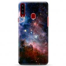 """Samsung Galaxy A20s TPU dėklas unikaliu dizainu 1.0 mm """"u-case Airskin Space 2 design"""""""
