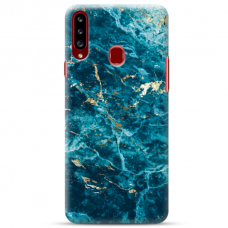 """Samsung Galaxy A20s TPU dėklas unikaliu dizainu 1.0 mm """"u-case Airskin Marble 2 design"""""""