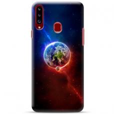 """Samsung Galaxy A20s TPU dėklas unikaliu dizainu 1.0 mm """"u-case Airskin Nature 4 design"""""""