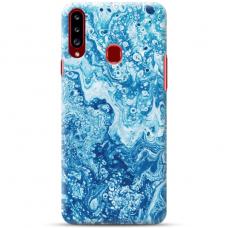 """Samsung Galaxy A20s TPU dėklas unikaliu dizainu 1.0 mm """"u-case Airskin Marble 3 design"""""""