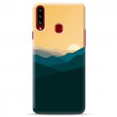 "Samsung Galaxy A20s TPU dėklas unikaliu dizainu 1.0 mm ""u-case Airskin Mountains 2 design"""