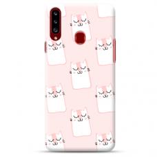"Samsung Galaxy A20s TPU dėklas unikaliu dizainu 1.0 mm ""u-case Airskin Pink Kato design"""