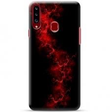 """Samsung Galaxy A20s TPU dėklas unikaliu dizainu 1.0 mm """"u-case Airskin Space 3 design"""""""