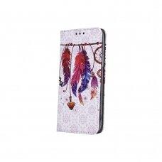 Samsung A10 atverčiamas dėklas smart trendy plunksnos 2