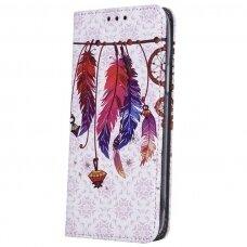 Samsung Galaxy M21 atverčiamas dėklas smart trendy plunksnos 2
