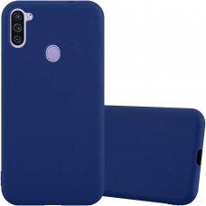 Samsung galaxy A11 dėklas Liquid Silicone tamsiai mėlynas