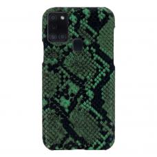 samsung galaxy a21s dėklas su gyvatės rašto imitacija Vennus WILD žalias