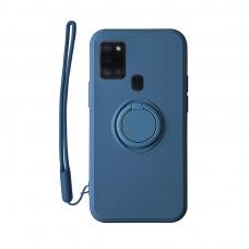 Samsung Galaxy a21s dėklas su magnetu Pastel Ring Mėlynas
