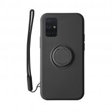 Samsung Galaxy a51 dėklas su magnetu Pastel Ring Juodas