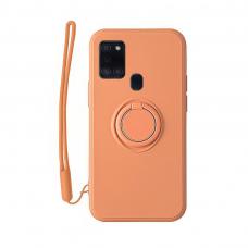 Samsung Galaxy a21s dėklas su magnetu Pastel Ring Oranžinis