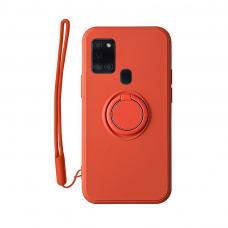 Samsung Galaxy a21s dėklas su magnetu Pastel Ring Raudonas