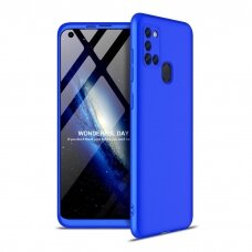 Akcija! Samsung galaxy a21s HURTEL dėklas dvipusis 360 plastikas mėlynas