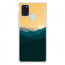 "Samsung Galaxy a21s TPU dėklas unikaliu dizainu 1.0 mm ""u-case Airskin Mountains 2 design"""