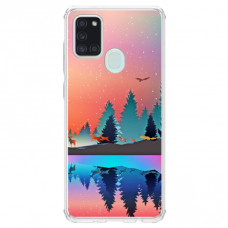 """Samsung Galaxy a21s TPU dėklas unikaliu dizainu 1.0 mm """"u-case Airskin Nature 5 design"""""""
