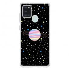 """Samsung Galaxy a21s TPU dėklas unikaliu dizainu 1.0 mm """"u-case Airskin Planet design"""""""
