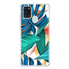 """Samsung Galaxy a21s TPU dėklas unikaliu dizainu 1.0 mm """"u-case Airskin Leaves 1 design"""""""