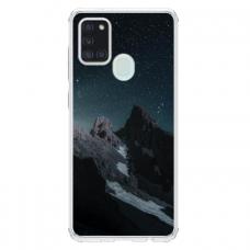 "Samsung Galaxy a21s TPU dėklas unikaliu dizainu 1.0 mm ""u-case Airskin Mountains 1 design"""