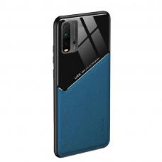 Xiaomi Redmi 9T dėklas su įmontuota metaline plokštele LENS case mėlynas