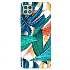 """Samsung Galaxy A22 5G TPU dėklas unikaliu dizainu 1.0 mm """"u-case Airskin Leaves 1 design"""""""